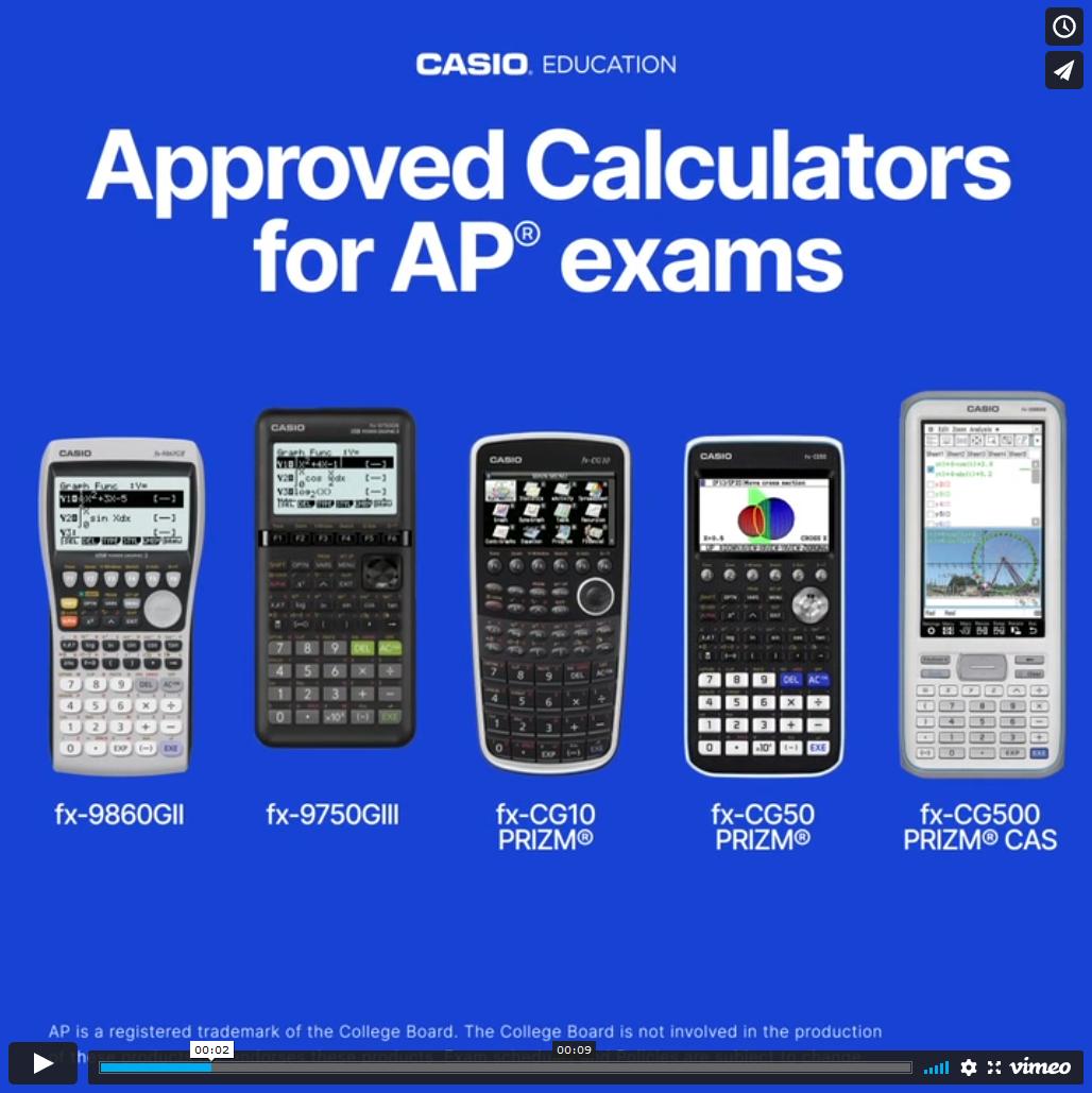 Approved Calculators Post